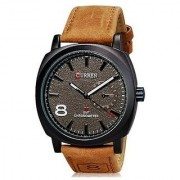 CURREN BRAND CHRONOGRAPH STYLED MENS LEATHER STRAP WRIST WATCH - BLACK by sports