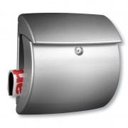 Chic letter box Kiel, silver