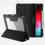 NILLKIN Bumper Leather Cover for iPad Pro 12.9-inch (2018) [Imported TPU, PC and PU Leather Materials] - Black