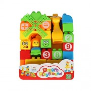 Planet of Toys Boys and Girls Intellect Junior School Bag Building Blocks for Kids - 40 Pieces