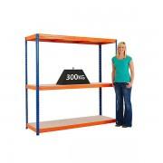 BiGDUG Schwerlast Steckregal von BiGDUG - Tragfähigkeit pro Steckregal 1200 kg - 3 Fachböden