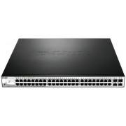 Switch D-Link DGS-1210-52P, Gigabit, 48 porturi, PoE