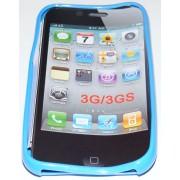 Силиконов гръб ТПУ за Apple iPhone 3G/3GS Син