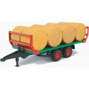 Bruder Bale Transport Trailer with 8 Bales 1:16 02220