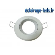 Support LED encastrable blanc orientable perçage 70mm ref sln-04