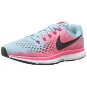 Nike Women's W Air Zoom Pegasus, Mica Blue/White Racer Pink, 5.5 M US