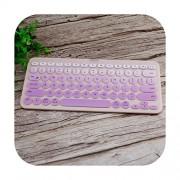 TOIT Cubierta de silicona suave para teclado Logitech K380 K 380 Bluetooth teclado Multi dispositivo mecánico protector de piel púrpura gradual