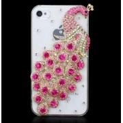 Luxusné Crystal Diamonds Bling Bling puzdro ružové (pre iPhone 4 4S )