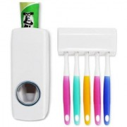 Automatic Toothpaste Dispenser with 5 Toothbrush holder set (Color : As per Availability)CODEX-Dis502