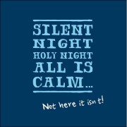 luxe kerstkaart woodmansterne - silent night - not here