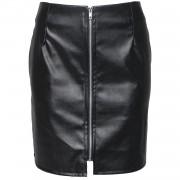 Skirt Black Zipped Up - Rokken