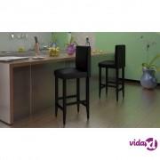 vidaXL Barske Stolice 6 kom Umjetna Koža Crne