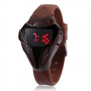 estilo de la cabeza de cobra MAIKOU rojo el reloj digital LED - marron