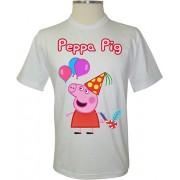 Camiseta Peppa Pig na Festa - Coleção Peppa Pig
