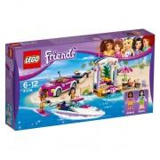 Lego friends il trasportatore di motoscafi di andrea