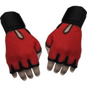 Gym Gloves And Sports Gloves sheep leather Red black