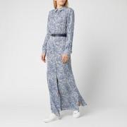 MICHAEL MICHAEL KORS Women's Coral Mosaic Shirt Dress - Twilight Blue - S - Blue