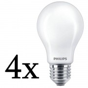 Philips Pack 4x Lâmpada LED 8.5W E27 Luz Branca Neutra