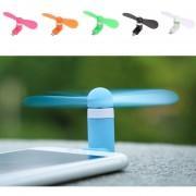 Yucheer Mini Ventilador Micro USB Para Celulares Android - Rosado