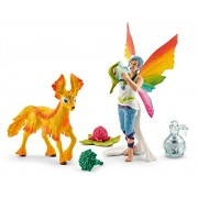 Schleich North America Rainbow Elf Dunya with Foal Toy Figure