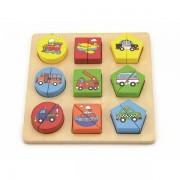 0126420 - Drvene puzzle 18 dijelova- vozila