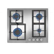 Plită incorporabila Teka EFX 60 4G AI AL CI, Gaz, 4 zone de gătit, Siguranţă flacără, Aprindere electrică, Grătare fontă, 60 cm, Inox, 40214303