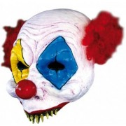 Vegaoo Angstaanjagend clownsmasker voor volwassenen Halloween One Size