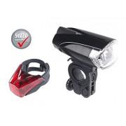 Set: LED-Fahrradlampe FL-110 & Rücklicht mit Batteriebetrieb, StVZO   Fahrradlicht