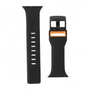 Curea silicon UAG Civilian Strap Apple Watch (42/44mm) Black/Orange