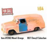 Jada Dub City For Sale Orange 1957 Chevy Suburban 1:64 Scale Die Cast Truck Car