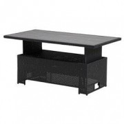 JYSK Loungetafel FARUM B75xL145xH45/68 zwart