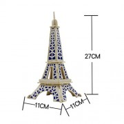 DEESEE(TM) Eiffel Tower 3d jigsaw puzzle toys wooden adult children's intelligence toys