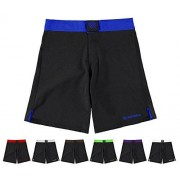 Sanabul Essential MMA BJJCross Pantalones Cortos de Entrenamiento, Azul, 36
