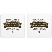 Mooch Wale Cant Buy Happiness But You Can Buy Coffee Square Wooden Coaster