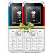 Combo of IKall K5310 (Dual Sim 1.8 Inch Display 800 Mah Battery Made In India White-Blue and White-Red)