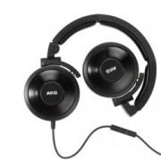 Слушалки AKG K619 DJ, оптимизирани за DJ, черни, микрофон