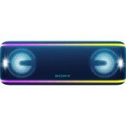 Boxa Portabila Sony SRSXB41L, EXTRA BASS, LIVE SOUND, Bluetooth, NFC, Wi-Fi, Wireless Party Chain, Party Booster, Rezistenta la apa, Efect de lumini (Albastru)