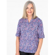 Seniors Choice Daisies Peasant Shirt - Purple 8