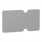 Schneider Electric NSYPMM712 fém szerelőlap 750x1250mm (magxszél) Thalassa PLA szekrényekhez, szerelőlap mérete 640x1125mm