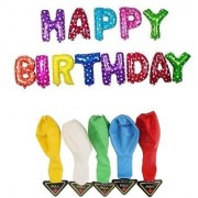 De-Ultimate Set Of HAPPY BIRTHDAY Letters Foil Balloons 5 LED Flash Lights/Lamp Balloon For Birthday Parties Decor