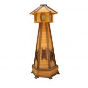 Gartenlaterne Drew-Handel LA72 Laterne mit Beleuchtung aus Nadelholz bedeckt mit einer witterungsbeständigen Imprägnierung