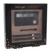 2K Let´S Get Perfect! Eyeshadow 7G Pallete Of Eyeshadow 3 X 2,2 G + Applicator Of Eye Shadow 1 Pc + Eye Pencil 0,2 G 086 + Eye Pencil 0,2 G 087 Grey Per Donna (Cosmetic)