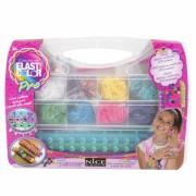 Set creativ Elasti Color Pro, 2400 elastice, 250 margele, Multicolor