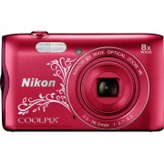 Nikon A-300 Digitale camera 20.1 Mpix Rood WiFi, Bluetooth