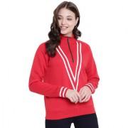 Texco Red Zippered Sweatshirt for Women