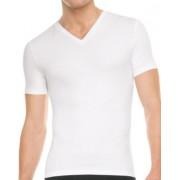 SPANX For Men Cotton Control V Neck Short Sleeved T Shirt White 641