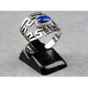 Madat Nepal Ring Zilver 21mm Meander/Lapis