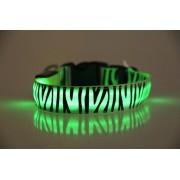 LED obojok Zebra pre psov ZELENÝ USB