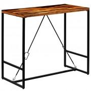 vidaXL Mesa de bar em madeira reciclada maciça 120x60x106 cm