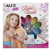 Alex Toys Do It Yourself Wear Boho Bands Activity Kit with Materials for Bracelets and Weaving Loom, Multi Color